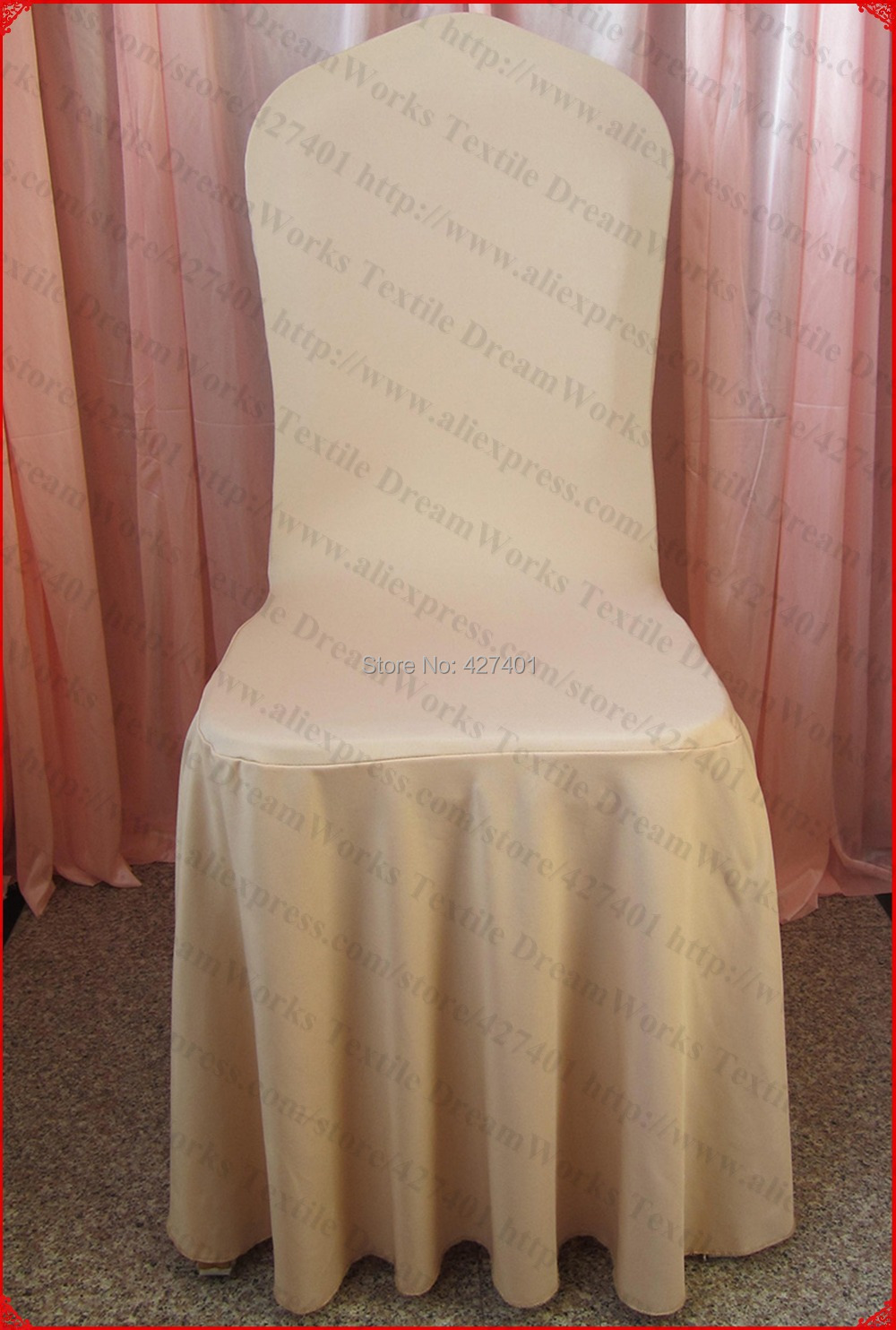 Champagne Chair Covers Us 459 Champagne Color Elegant Pleated Swag Spandex Chair Cover Lycra Chair Cover Backdrop For Wedding Party Banquet Home Decorations In Chair