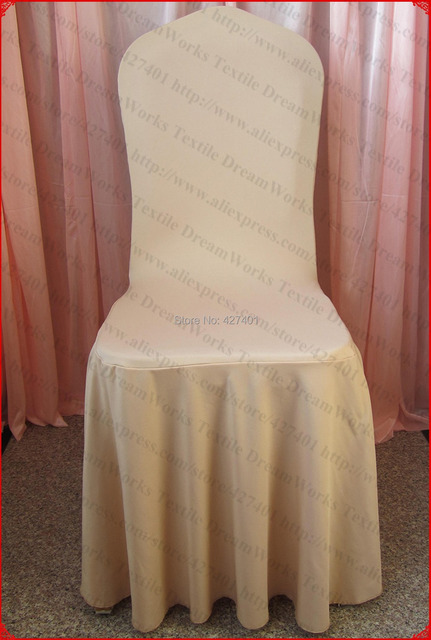 champagne banquet chair covers stylish desk chairs color elegant pleated swag spandex cover lycra backdrop for wedding party home decorations