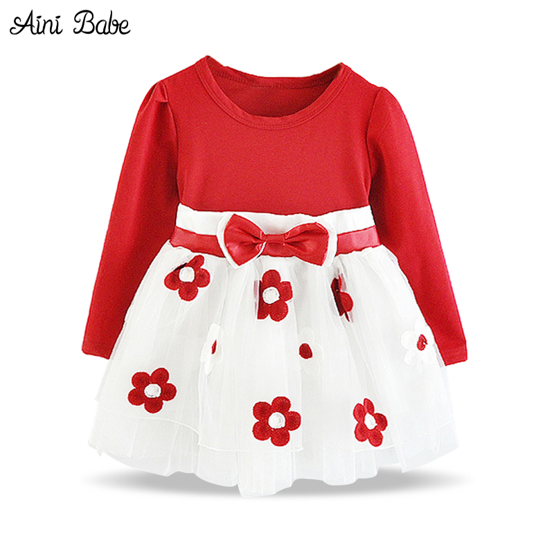 Toddler Girl Clothes New 2018 Flower Girl Wedding Dress Children's Costumes for Kids Infant Party Baby Girl First Birthday Dress 2016 new style kids infant baby girl flower girl dress for wedding girls party dress with big bow lace dress for 3 8years