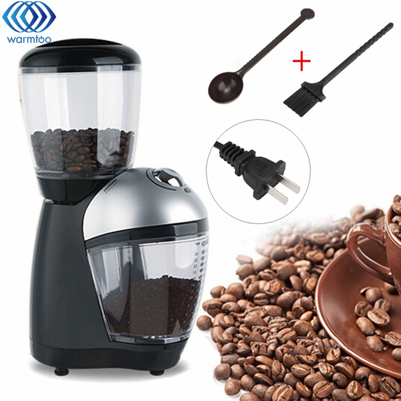 Coffee Grinder Maker Small Electric Flour Mill Dry Grain Grinding Machine Mechanical Control Plastic US Plug Home Office