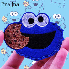 Prajna Cartoon Cute Sesame Street Patch ELMO COOKIE MONSTER Animal Ironing Patches Seal Embroidered For Kids Clothes DIY