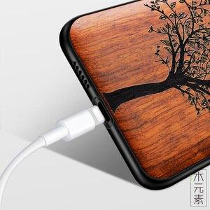 Image 3 - 新華為名誉 10 ケーススリム木製バックカバー tpu バンパーケース huawei 社の名誉 10 電話ケース Honor10