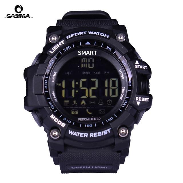 2018 New Sport Smart Watch Buzzer Sound Alarm Sport Men Watches Monitor IP67 Waterproof Burned Calory Watch Remote Camera Clock