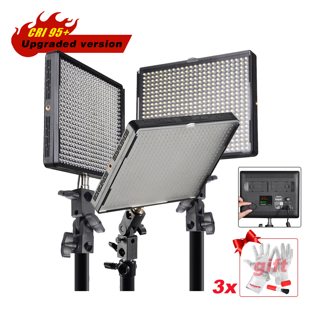 528 Kit Aputure Amaran AL-528C AL-528W AL-528S LED Video Studio Photo Light Panel Photography Lighting For Canon Nikon Camera серьги голубой топаз beatrici lux серьги голубой топаз