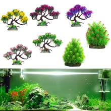 aquarium artificial plant pine trees banyan christmas fish tank ornament pond yard office decor aquarium landscape