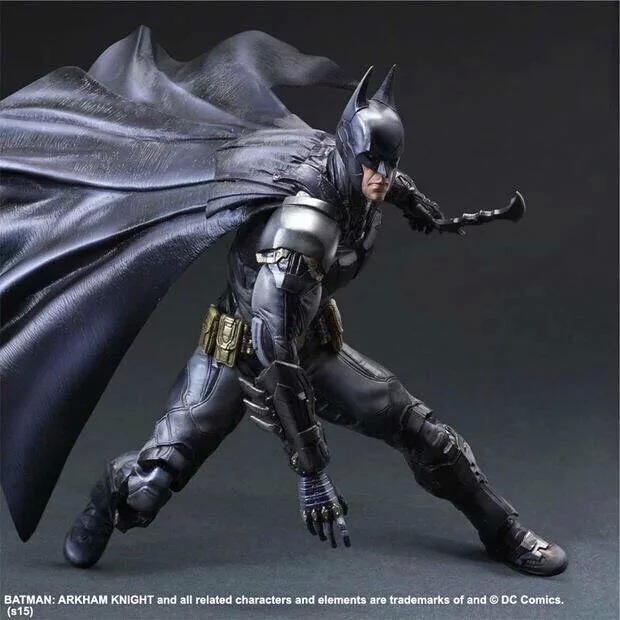 PLAY ARTS 27cm Batman: Arkham Knight Original Black Version Action Figure Model Toys цена