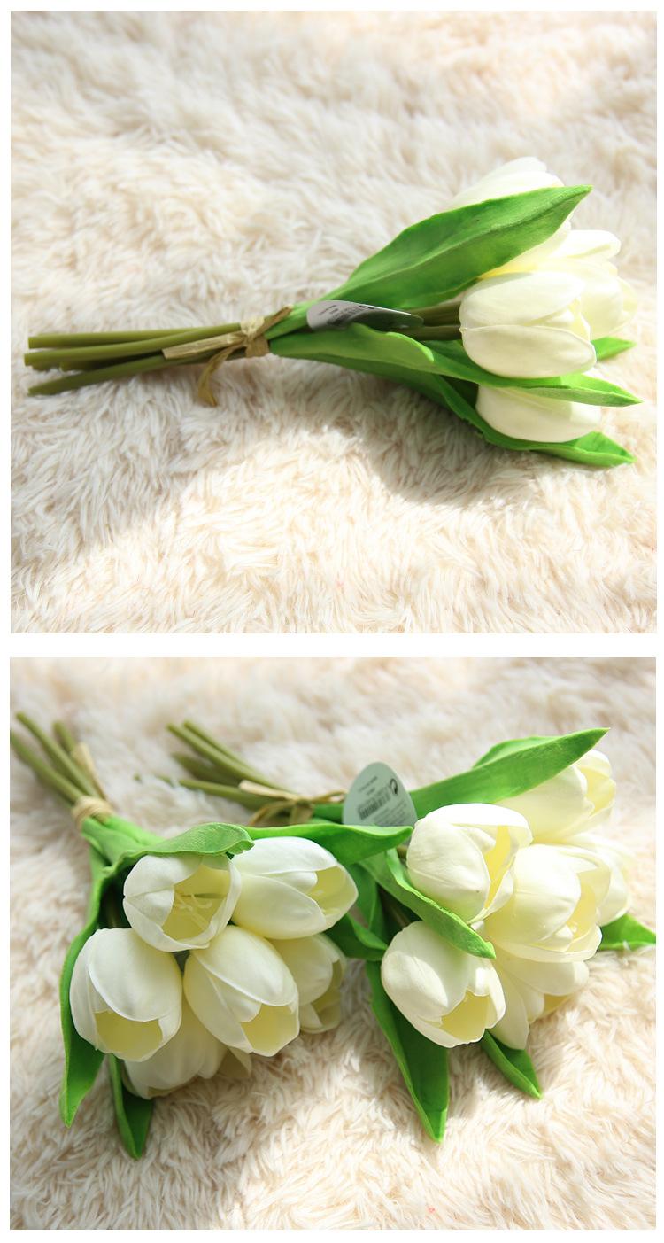 Hoa Tulip giả M-173 màu trắng