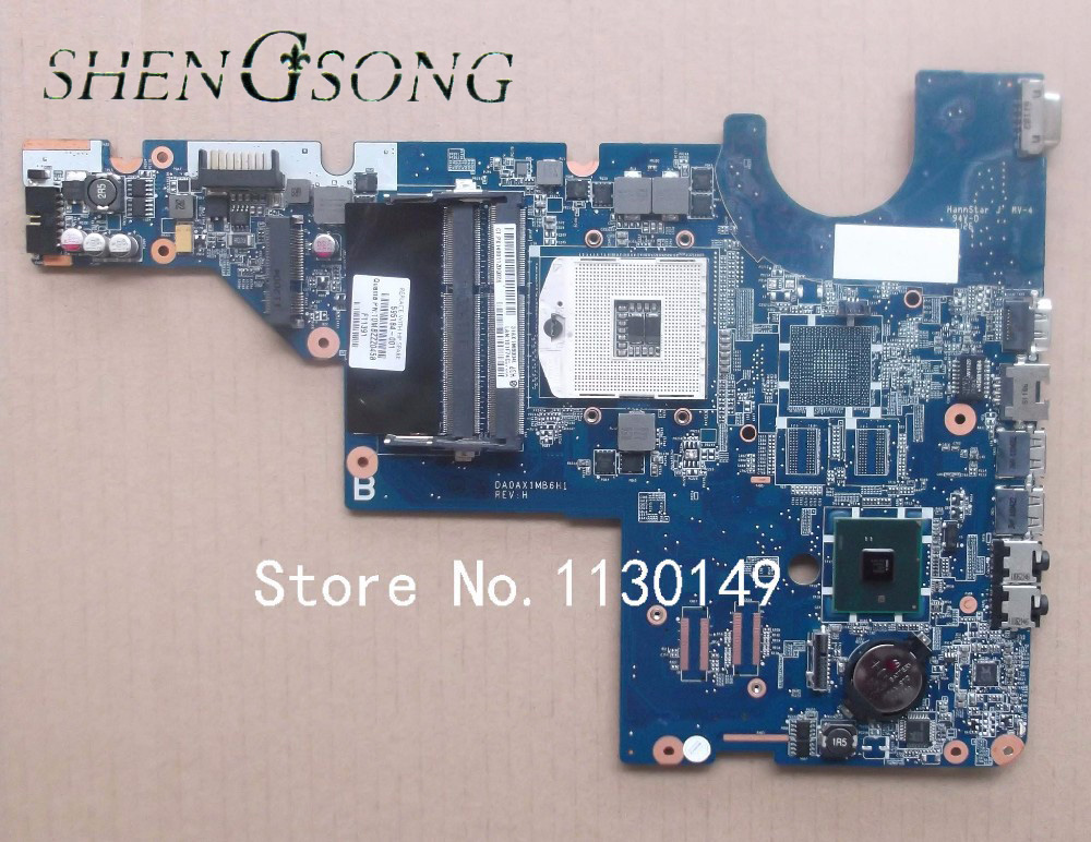 For HP Pavilion CQ42 CQ62 G42 G62 motherboard HM55 DDR3 Integrated Laptop Motherboard 595184-001 Fully Tested laptop motherboard g62 cq62 592809 001 31ax2mb0010 da0ax2mb6f0 integrated 100% work promise quality fast ship
