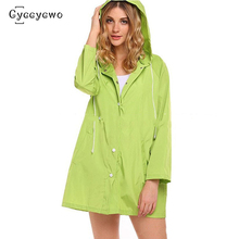 2019 New Brand Hooded Trench Candy Color Women Rainproof Loose Plus Size Coats Woman Trench femme hiver Long Windbreaker we0070