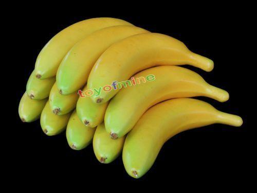 2015 Top Fashion Noivinho Para Bolo Elf Ears 10pcs Lifelike Decorative Plastic Artificial Fake Fruit Home Decor Craft Banana