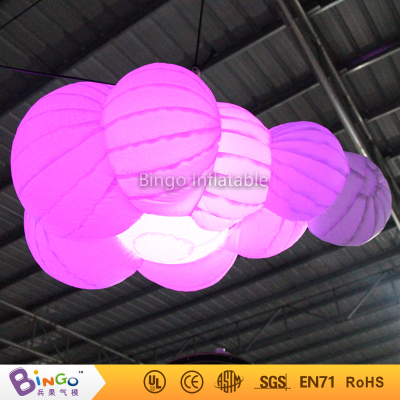 led lighting inflatable cloud party hanging decoration 1 6meters lighting decoration Light Up Toys