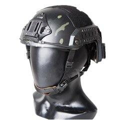 Tactical Casco marittimo casco in bicicletta per airsoft Paintball ABS ciclismo casco multicam Nero taglia Ml