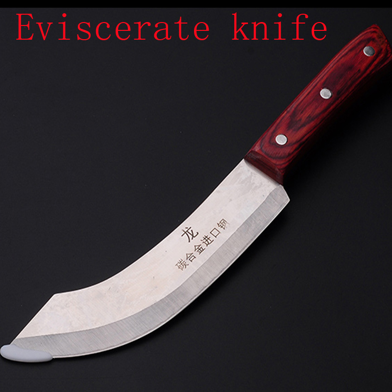 Free Shipping Forged Kitchen Chef Slaughter Knife Butcher Boning Knife Forged Blade Sharp Cleaver Meat Fish Eviscerate Knives