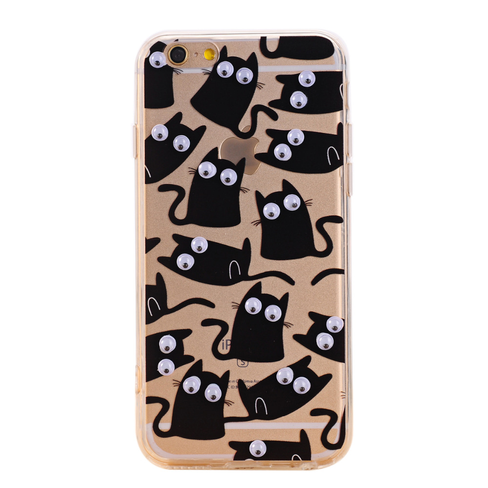 3D Cartoon Animal Fruits Pattern Fundas Cover Iphone 7 6 6S Plus 5 5S 5SE 4 4S TPU Silicon Soft Sleeve Shell