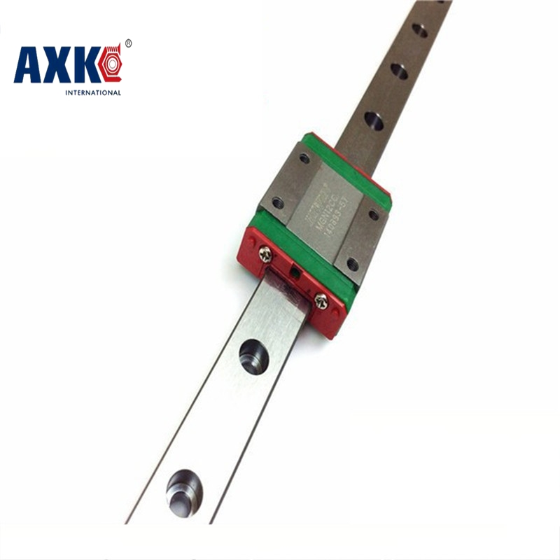 2018 Real AXK Linear Rail Axk Free Shipping 9mm Linear Guide Mgn9 100mm Rail Way + Mgn9h Or Mgn9c Carriage For Cnc X Y Z Axis free shipping linear rail guide ball screw with motor driven y axis 300mm diy x y z axis router for cutting machine