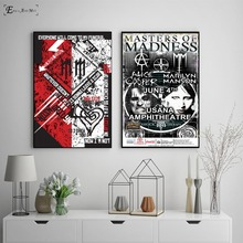 Marilyn Manson Black And White Vintage Poster Prints Oli Painting On Canvas Wall Art Murals Pictures For Living Room Decoration