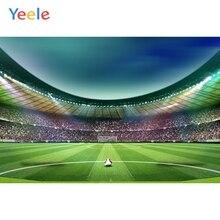 цена Yeele Green Sky Football Field Soccer Audience Baby Photography Backgrounds Customized Photographic Backdrops for Photo Studio онлайн в 2017 году