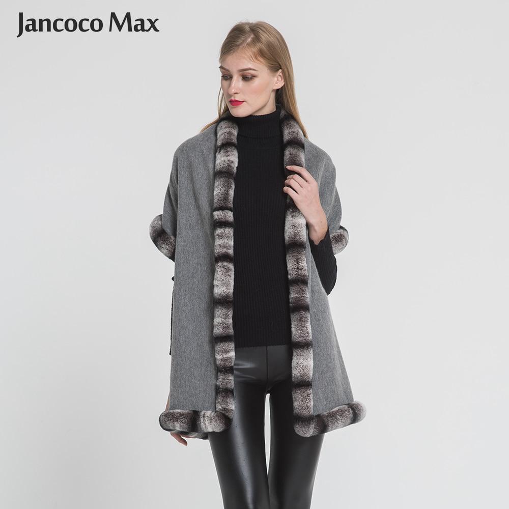 2018 Nouvelle Arrivée Réel Rex De Fourrure De Lapin Écharpe Femmes Mode Hiver Chaud De Fourrure Poncho Lady Meilleur Cadeau S7352