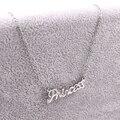 DIY Carta Princesa Collar Nombre Collares y Colgantes de Acero Inoxidable de La Joyería de Belleza Personalizado Regalo de Navidad Hecho A Mano