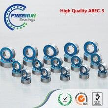 צירי SCX10 השני (V2) כדור נושאות סט ABEC3 כחול גומי 28 יחידות כדור beairng ערכת