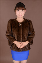 2014 real mink coat female bow design cheap promotional short fur coat factory direct wholesale free shipping