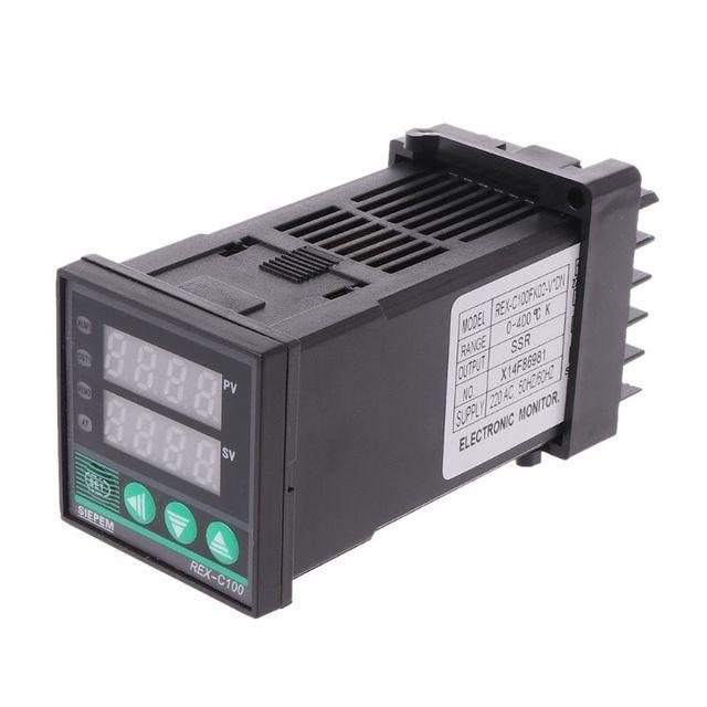 Cyfrowy regulator temperatury PID REX-C100 0 do 400 stopni celsjusza typu K wejście wyjście SSR Tester narzędzia