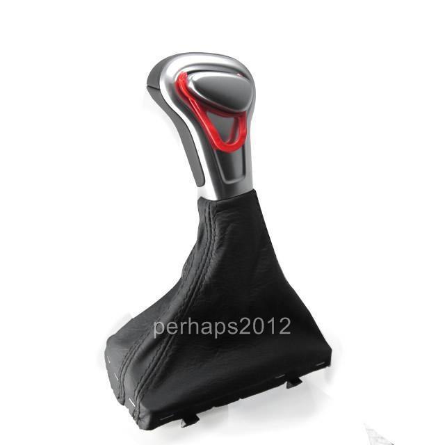 Chrome Leather Shift Knob for Audi A4 A6 A7 Q7 Q5 2009 2010 2011 2012 2014 автозапчасть audi c5a6 a4 c6a6l b8a4l q5