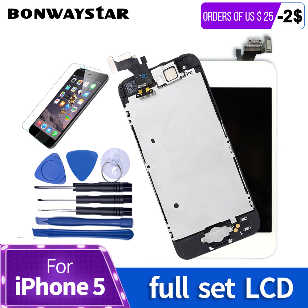 AAA Volle set Bildschirm Für iPhone 5 5 s LCD Touch Screen Digitizer vollversammlung LCD Ersatz Modul für iPhone 6 s 6 5 s Display