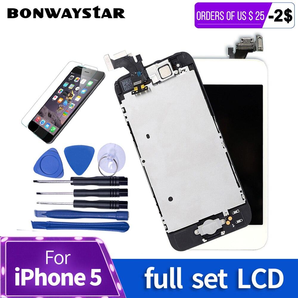 AAA conjunto Completo Tela Para iPhone 5 5S LCD Touch Screen Digitador assembléia completa LCD Módulo de Substituição para o iphone 6 s 6 5S Exibição