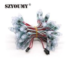 купить SZYOUMY 12mm WS2811 2811 IC Full Color Pixel LED Module Light DC 5V input IP68 waterproof RGB color Digital LED Pixel Light дешево