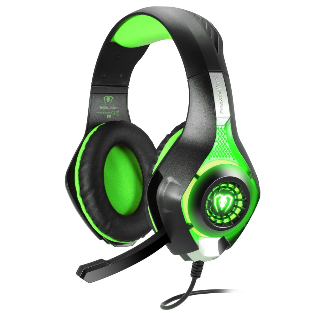 gm 1 gaming headphones for ps4 pc stereo game headsets audio y splitter wired headphones with. Black Bedroom Furniture Sets. Home Design Ideas