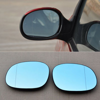 Ipoboo 2pcs New Power Heated w/Turn Signal Side View Mirror Blue Glasses For Peugeot 206 207