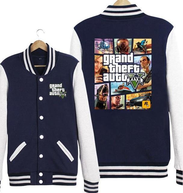 New Grand Theft Auto 5 Hoodie GTA5 Women Men Baseball Jacket ...