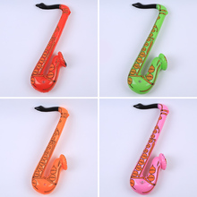 Inflatable Sax Saxophone color random Blow Up Hen/Stag Fancy Dress Party Musical Instrument original design hot sale