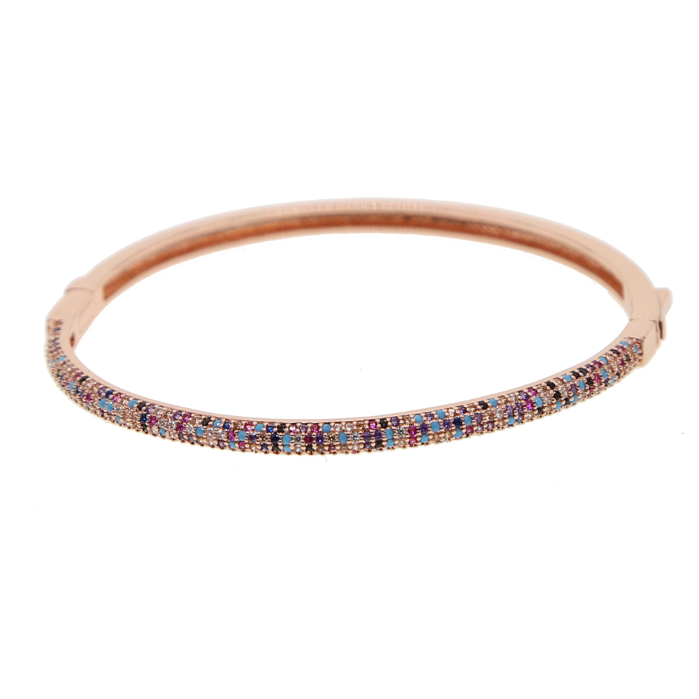 free shipping charm women hot popular quality Cz AAAA+ Cubic zirconia Crystal Circle Cuff Bracelet Bangle Fashion jewelry