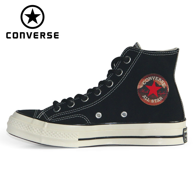 Original 1970S Converse Chuck Taylor All Star '70 The plush leather Autumn and winter style unisex sneakers Skateboarding Shoes image