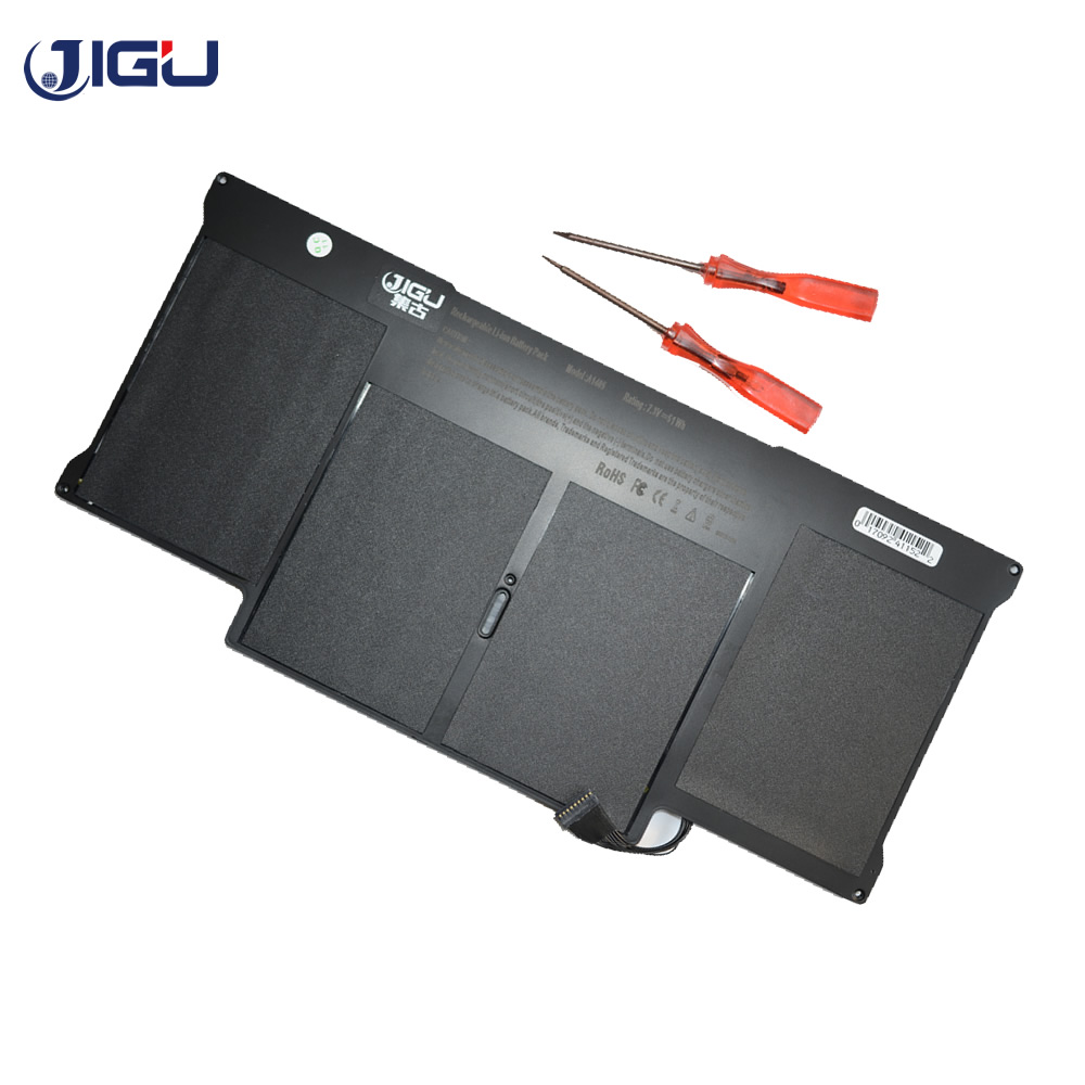 JIGU Wholesale New Laptop Battery For Apple MacBook Air 13 A1466 A1369 A1405 A1496 A1377 Battery With Screwdrivers hsw rechargeable battery for apple for macbook air core i5 1 6 13 a1369 mid 2011 a1405 a1466 2012