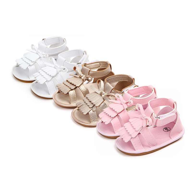 efe50dc99d Baby Sandals Summer Leisure Baby Girls Sandals Children PU Tassel Shoes For  Girls 3 Colors