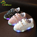 J Ghee 2017 Spring Kids Glowing Sneakers Boys Girls LED Light UP Shoes Children's Casual Canvas Shoes Shiny Stars Soft Fashion