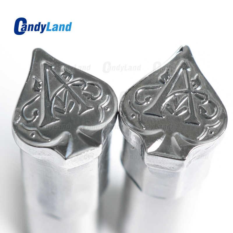 Candland Spade أقراص حليب يموت ثلاثية الأبعاد لكمة قالب طبع الحلوى اللكم يموت شعار مخصص الكالسيوم اللوحي لكمة يموت لآلة TDP5