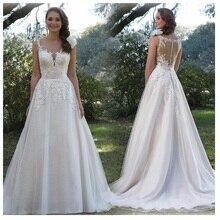 SoDigne  Wedding Dress Lace Appliques Vestidos de novia 2019 Simple Bridal Gown Romantic Floor Length Wedding Gowns