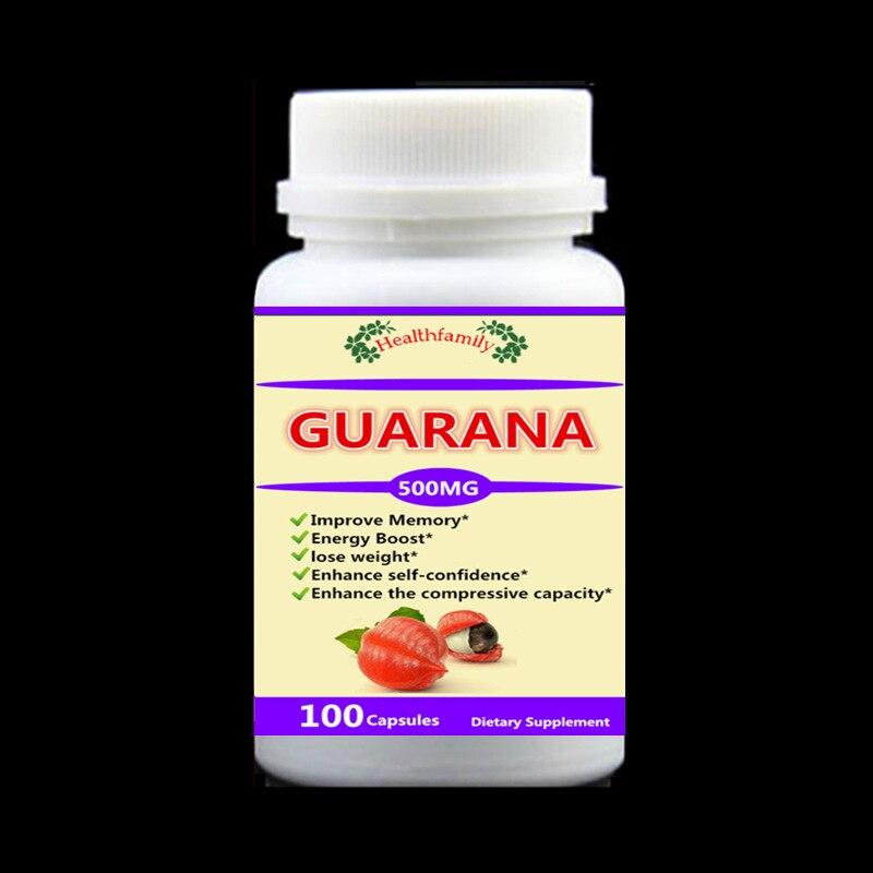 Extracto de Guarana de origen, mejora la memoria, aumenta la energía, mejora la capacidad de compresión y la confianza, 100 piezas/botella