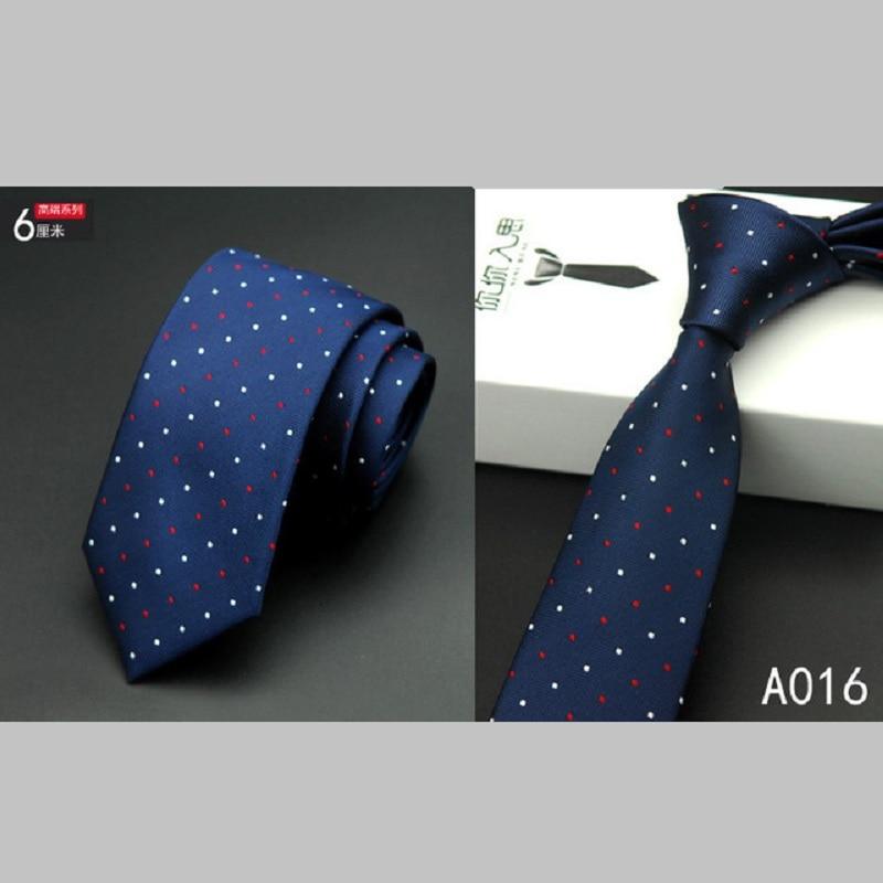 Módní kvalita Slim Tie 6cm Černá Šedá Hubená Úzké Gravata Hedvábné Žakárové Tkané kravaty pro muže Svatební párty