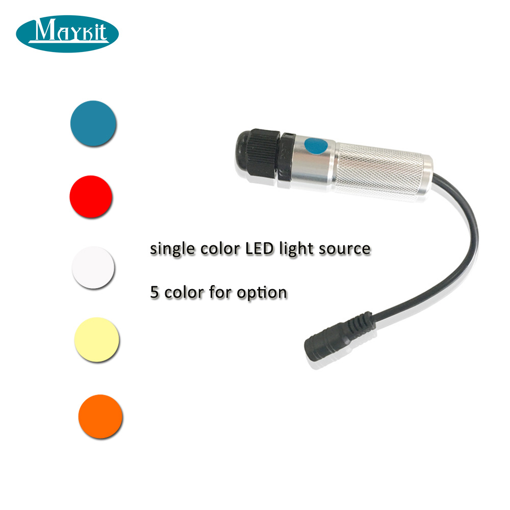 Maykit Cree Chip Led Compact Car Styling Light With 3.0mm Side Glow Ploymer Fiber Optic Cable At 1-5m Length for Center Console 1w dc12v car use home use car light illuminator with 5m side glow led fiber optic