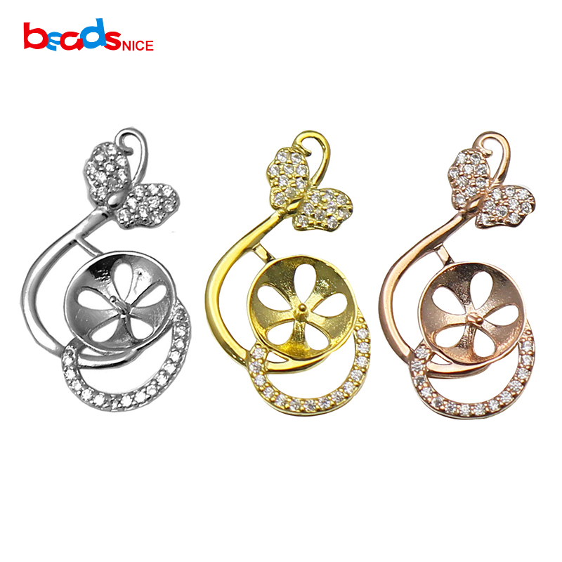 Silver Pendant Setting Pendant Necklace Jewelry Handmake Necklace For Girlfriend ID35142