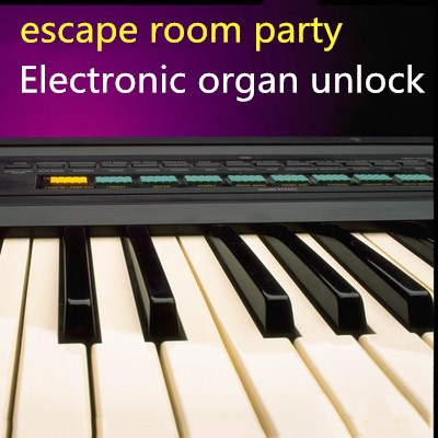 Electronic organ props to open the lock real life room escape mysterious door game