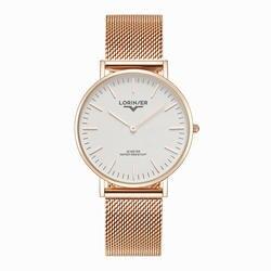 Lorinser Женские часы Простой нержавеющая сталь сетки кварцевые наручные часы дамы браслет часы для женщин Relogios Прямая доставка