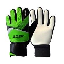 Утолщенные Нескользящие резиновые футбольные вратарские перчатки, Вратарские футбольные защитные перчатки для пальцев, мужские спортивные перчатки