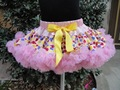 New Design fluffy chiffon pettiskirts tutu for baby and girls Children Girls colorful princess dance skirts PETS-063