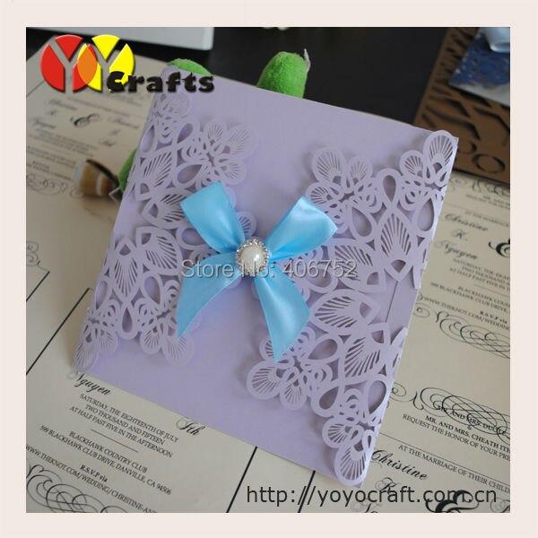 Laser Cut Einladungskarte, Laser Cut Weihnachten Einladungskarte Band Und  Schnalle Müssen Zusätzliche Kosten